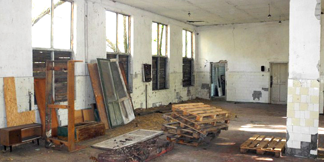 THE WORKS FOR THE VETERINARY CLINIC, AT THE GORLOVKA SHELTER FOR STRAY ANIMALS IN UKRAINE, ARE IN PROGRESS