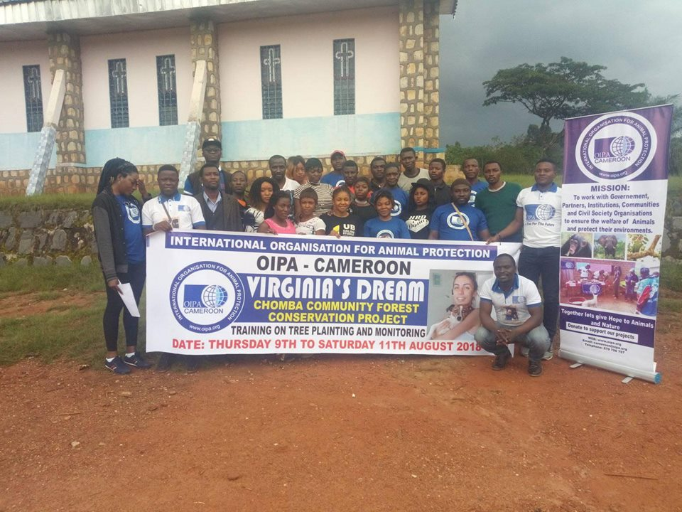OIPA CAMEROON: TRAINING ON TREE PLANTING AND A NEW OFFICE