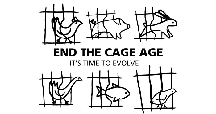 END THE CAGE AGE – NO MORE ANIMALS IN CAGES